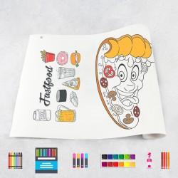 Drawing roll Fast food