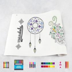 Drawing roll Mandala 1