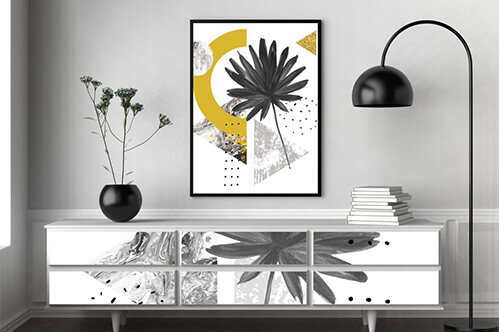 Furniture stickers Abstract summer geometric shapes