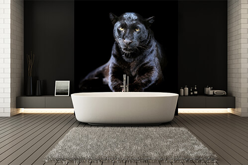 Wall stickers Black leopard