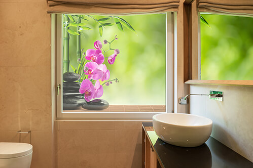 Window stickers Purple orchid