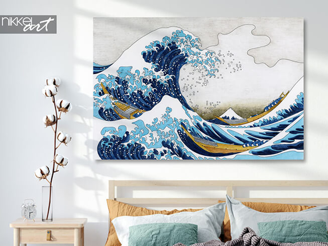 Aluminium prints Hokusai The Great Wave Of Kanagawa
