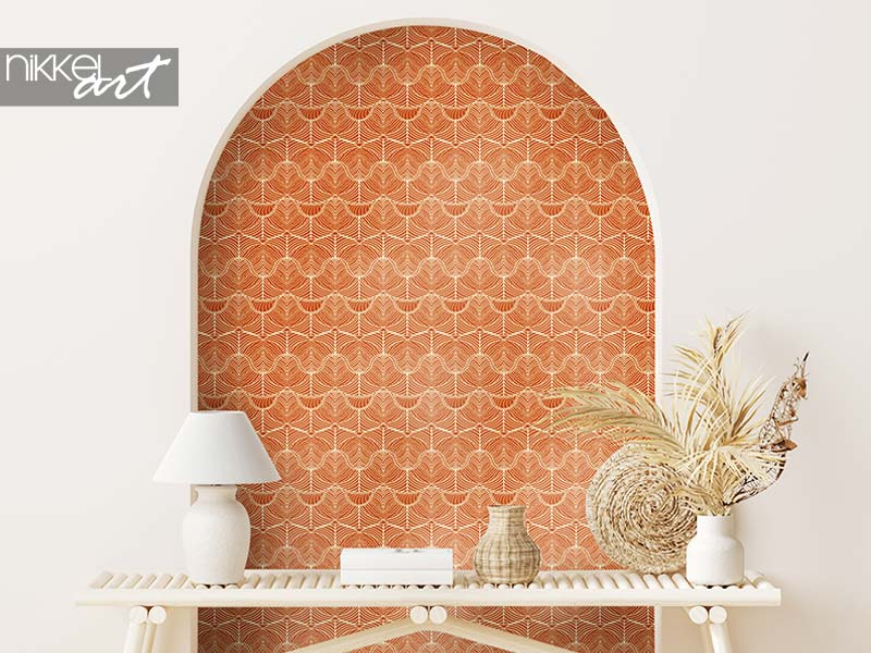 Wallpapers Ethnic seamless pattern with waves