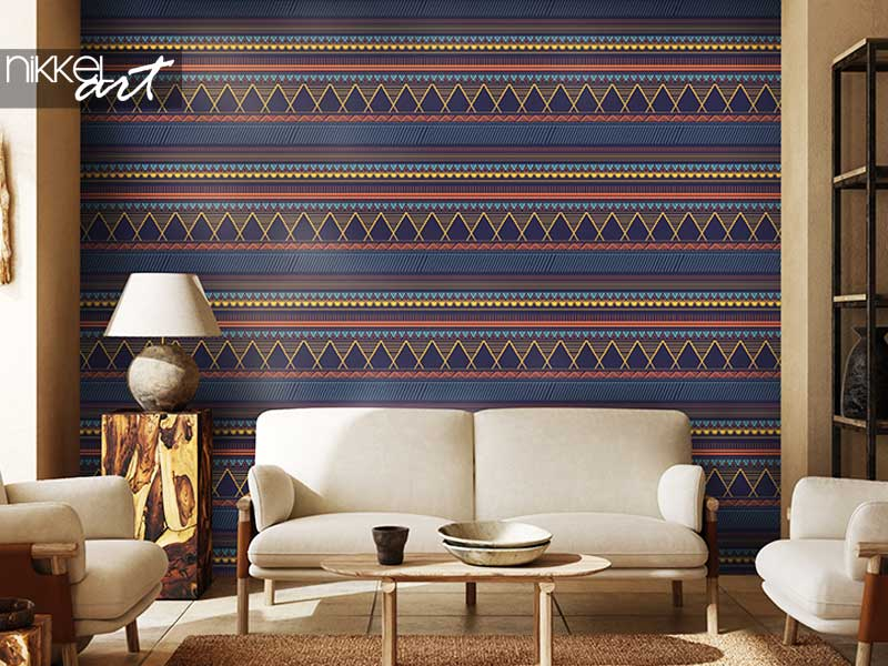 Wallpapers Trendy tribal motifs seamless pattern with abstract geometric