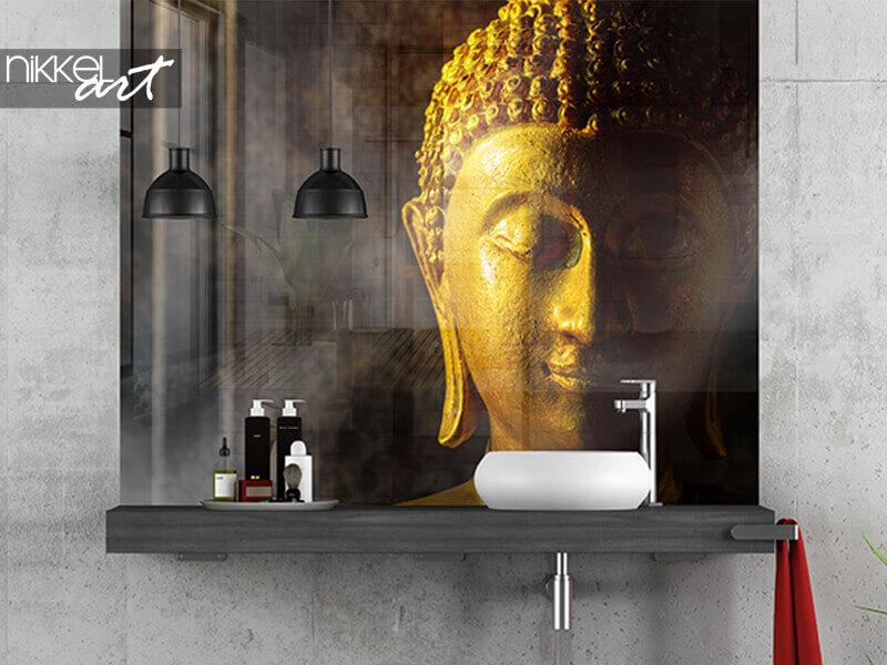 Printed bathroom splashbacks Thai buddha
