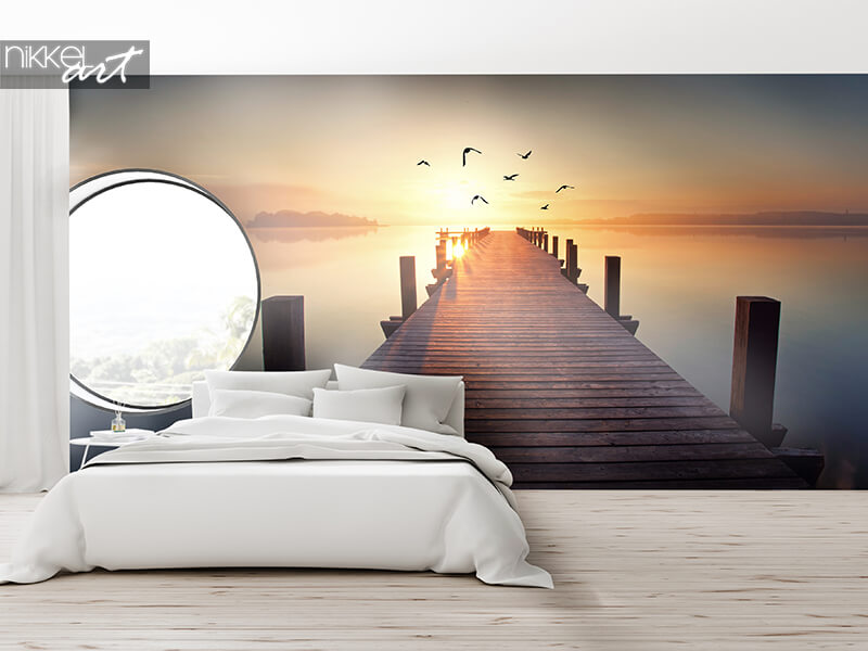 Wall mural light and sea