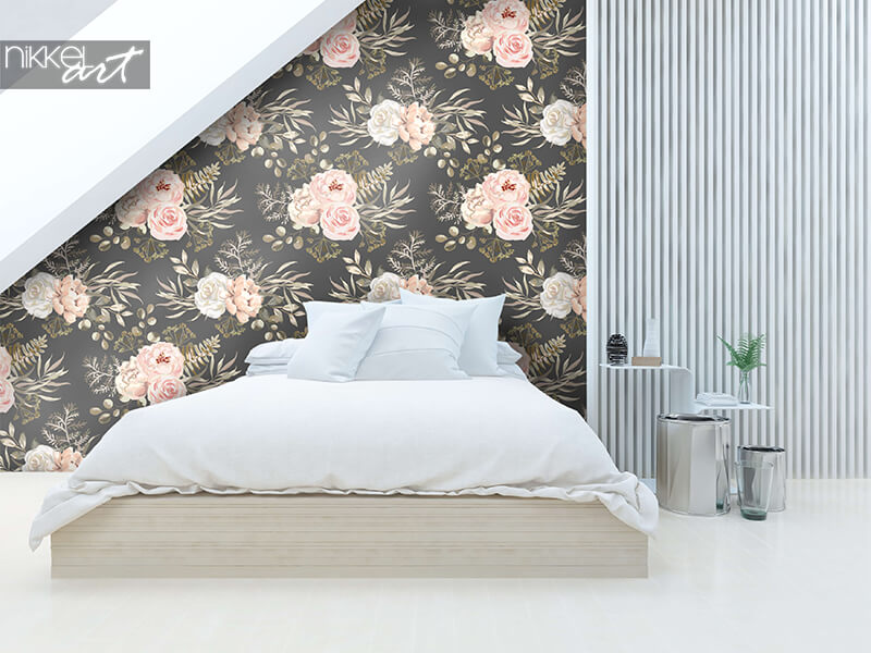 Wallpaper peony flowers