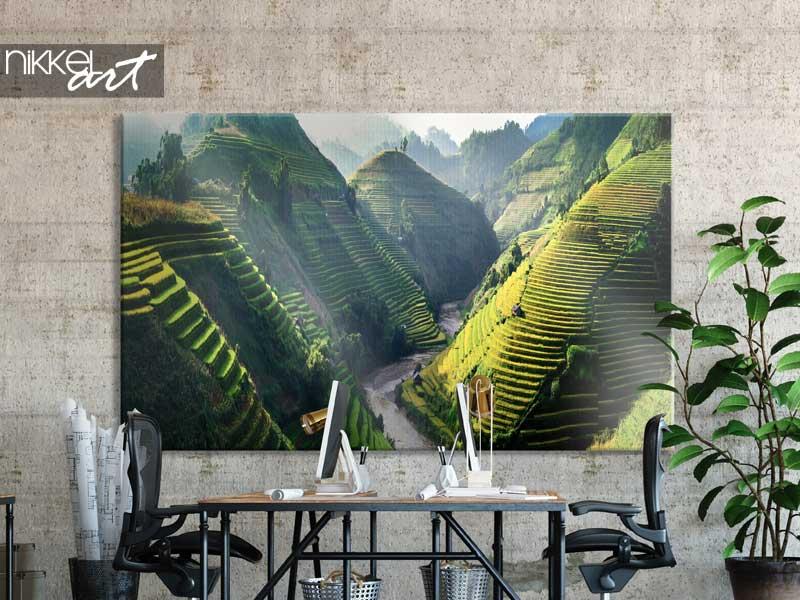 Canvas prints Rice fields on terraced in Northwest of Vietnam