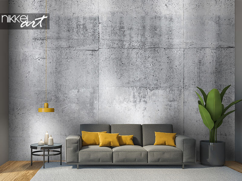 Wall mural gray concrete wall
