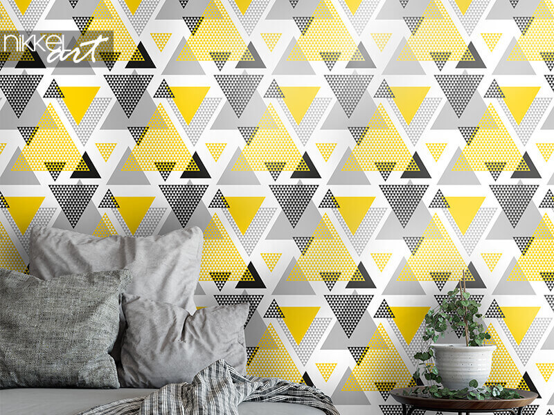 Wallpapers Yellow and black triangles