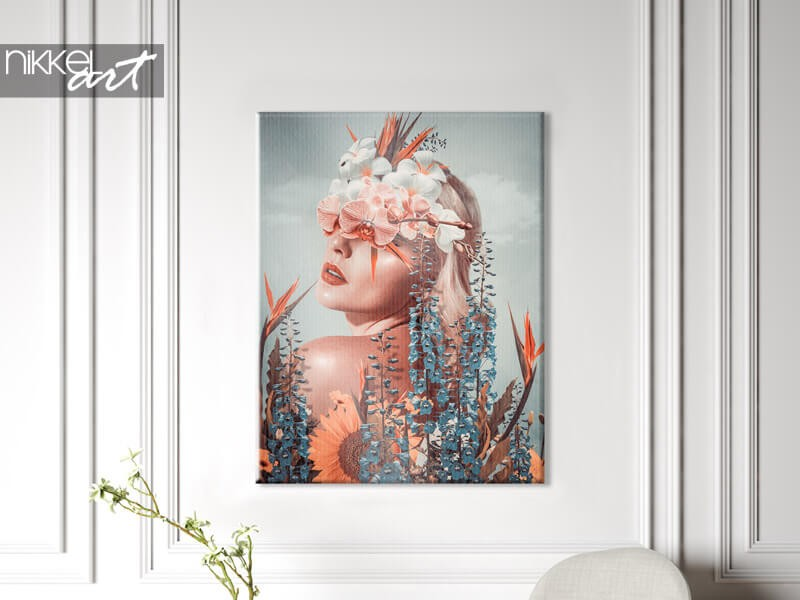 A photo on canvas is affordable and beautiful