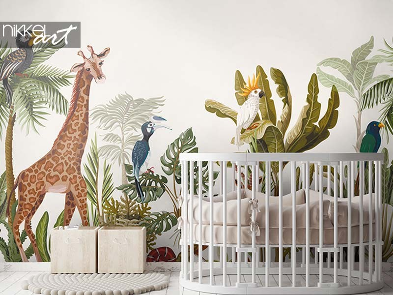 3 x wall murals in the kids' room
