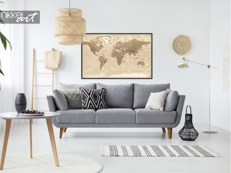 Posters with World Map, for the true world traveler!