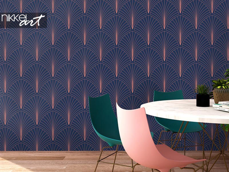 Vintage glamour: art deco wallpaper