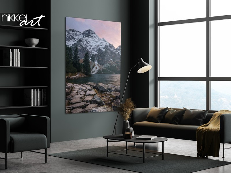Home idea: photo prints with mountains