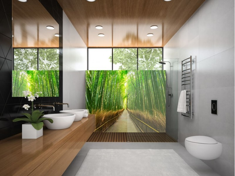 Jump into the deep with enchanting bathroom splashbacks