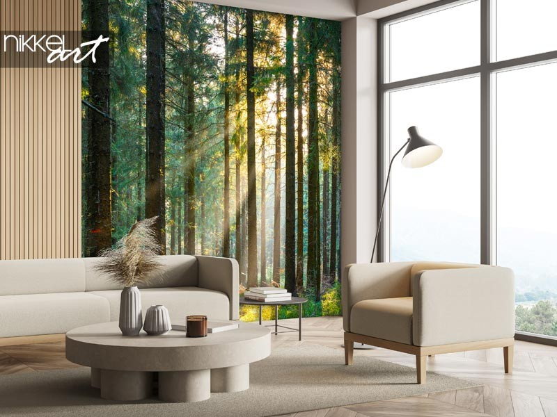 Wall decoration with forests: bring nature into your home