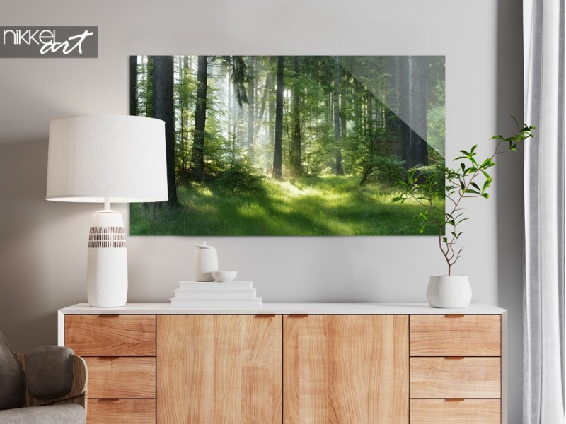 Wall decoration with depth? Then choose a glass painting