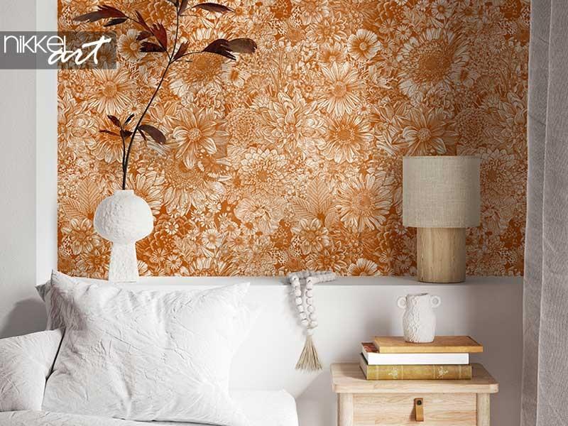Interior trend: floral wallpaper