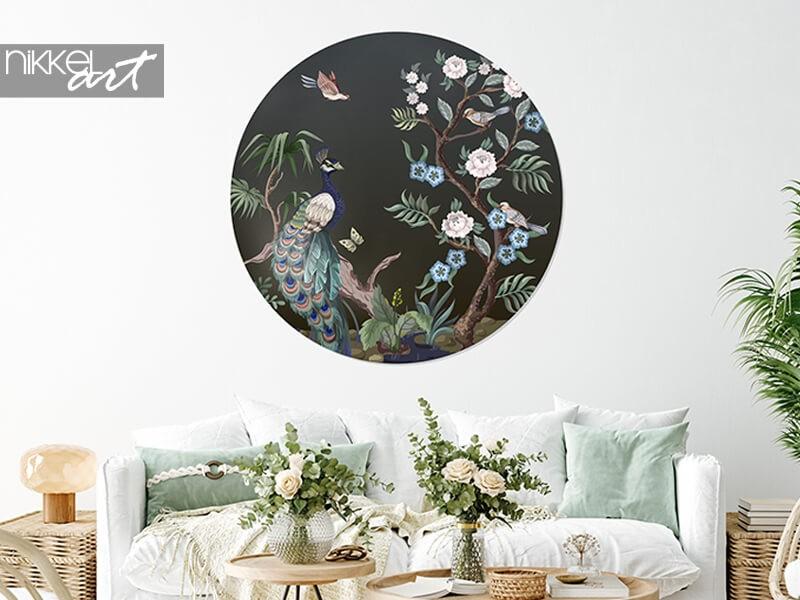 Creative with wall decoration: circle wall murals