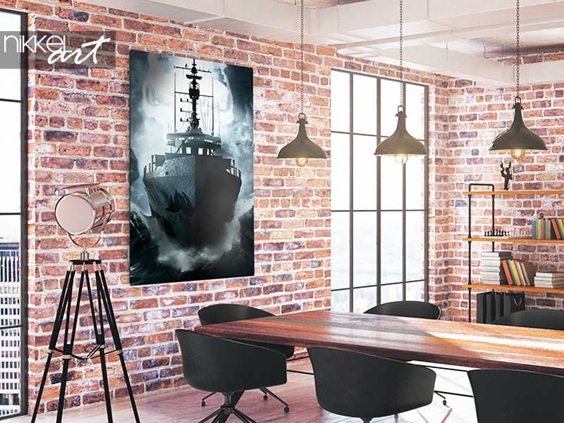 Decorating tip: storm at sea painting