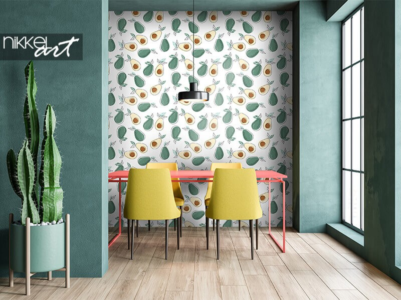 Trend spotted : wallpaper with avocados