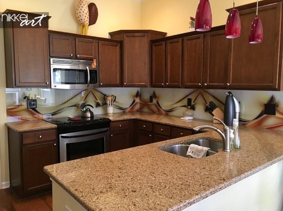 Customer Photo Glass Kitchen Back Wall