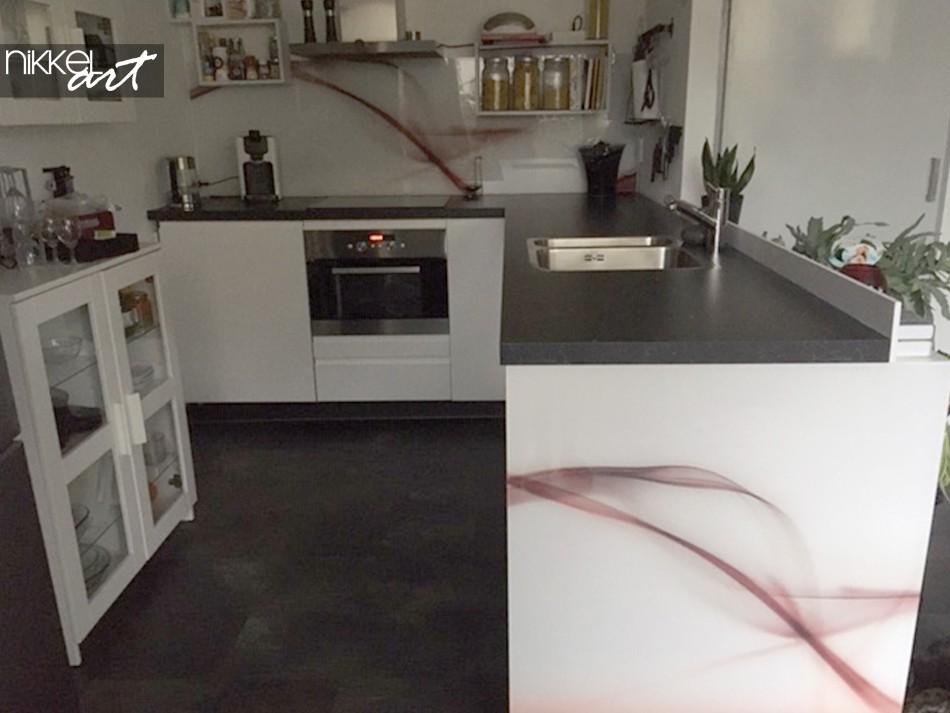 Printed Kitchen Splashback Abstract Wave