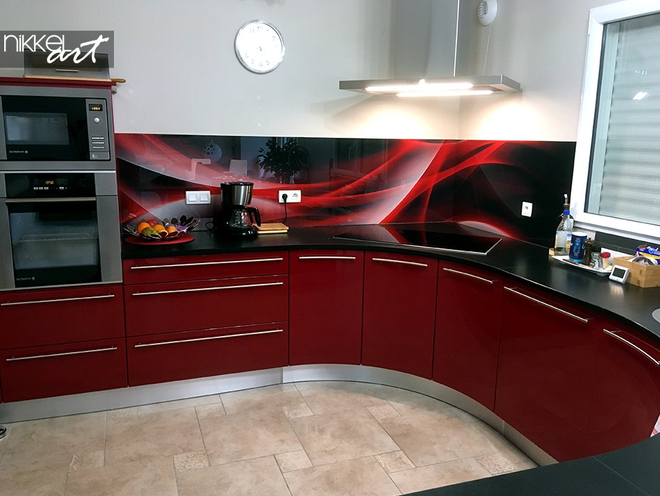 Glass Kitchen Backsplash Wave