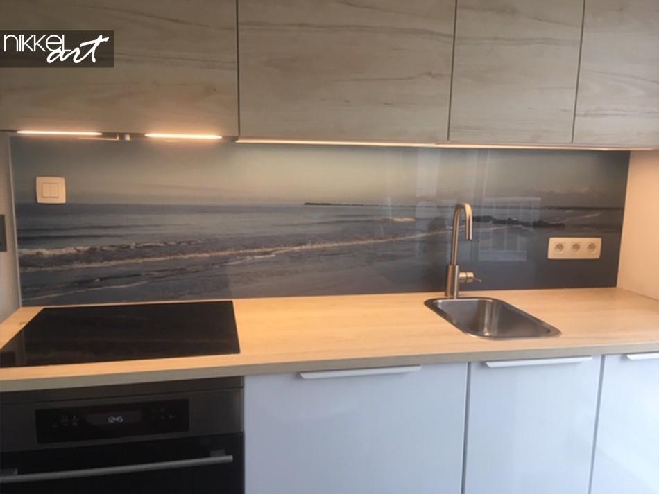 Acrylic Kitchen Splashback Ocean View