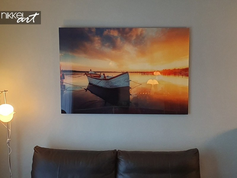 Acrylic Print Boat in Lake