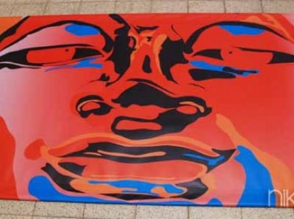 Photo of Garden Poster abstract face