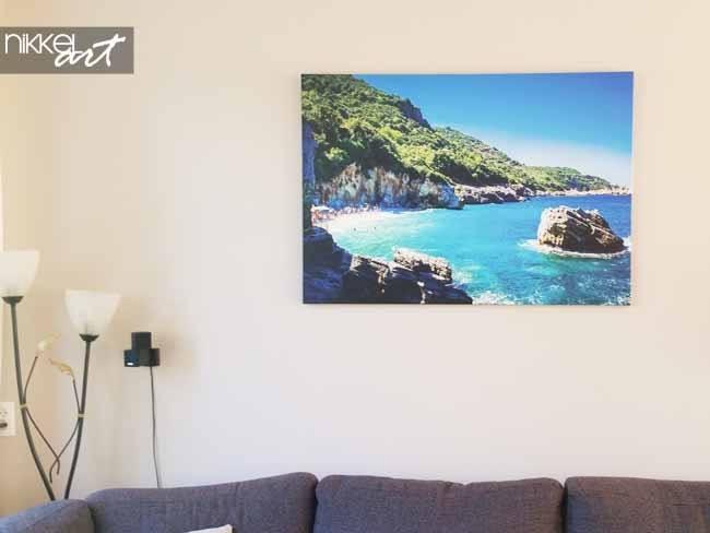 Photo on Canvas Tropical beach