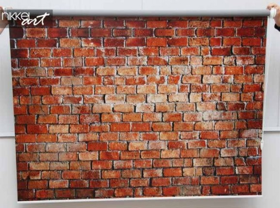 Photo roller blinds Brick wall