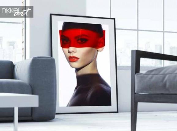 Poster Elegant futuristic lady
