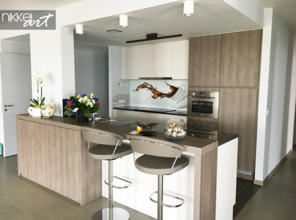 Printed kitchen splashbacks Cafe