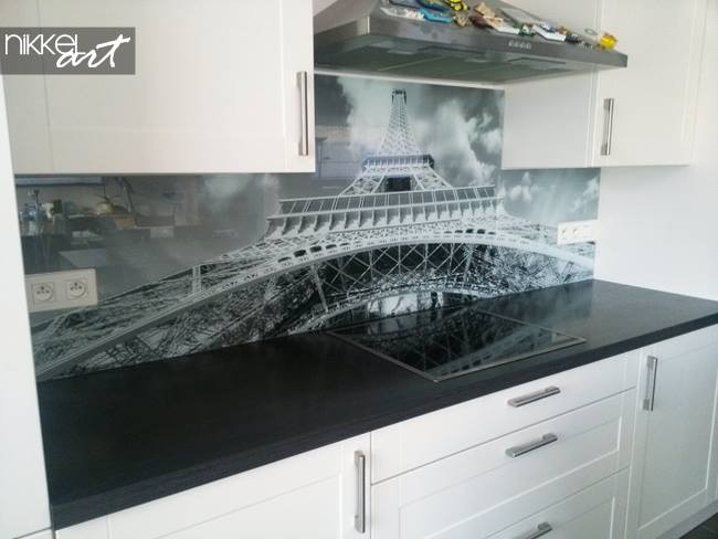 Printed kitchen splashbacks Eiffel Tower