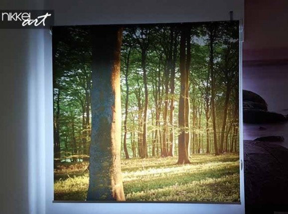 Printed roller blinds Forest
