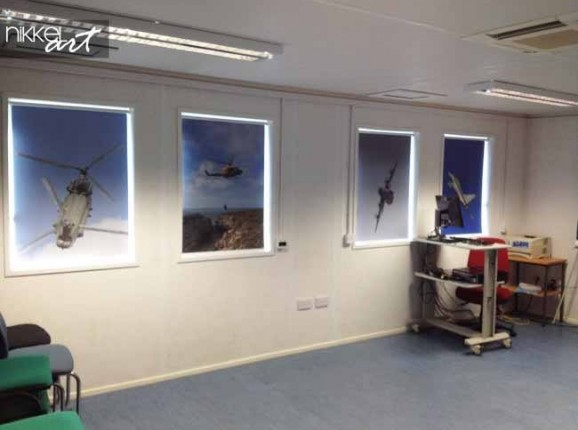 Printed roller blinds Helicopter