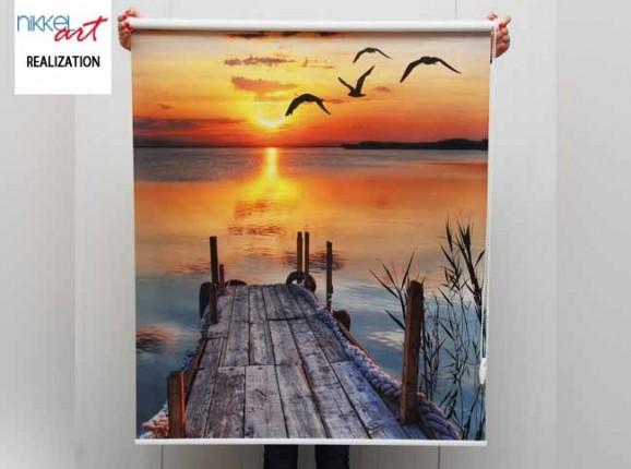 Printed roller blinds Lake