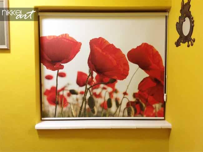 Printed roller blinds Poppy