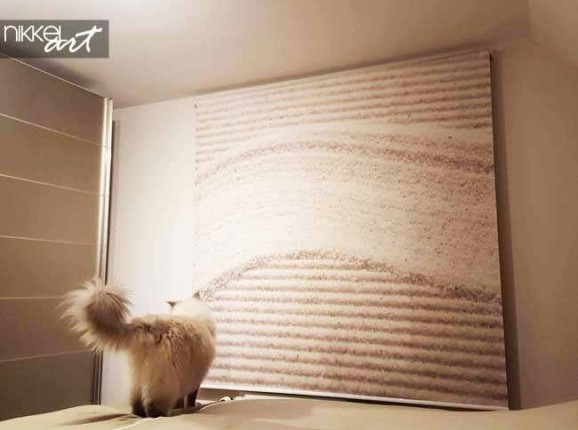 Printed roller blinds Stones in Sand