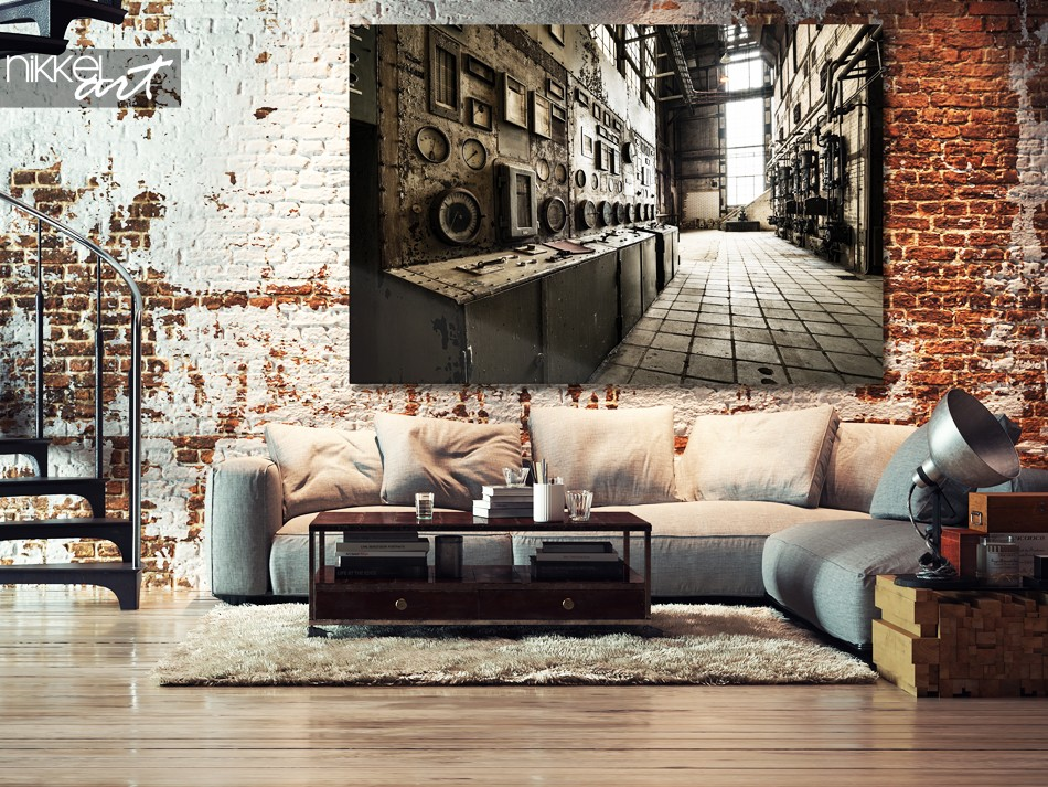 Acrylic Prints Old abandoned buildings