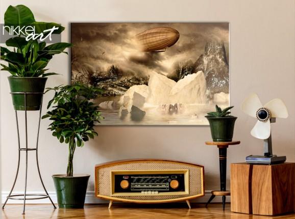 Zeppelin on canvas