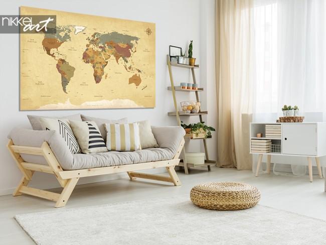 Aluminium Prints World Map