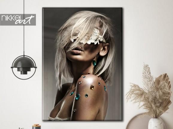 Glamourous photo on canvas
