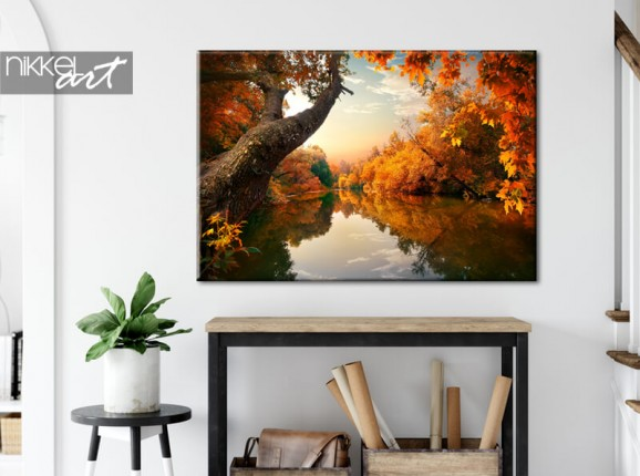 Autumnal forest on canvas