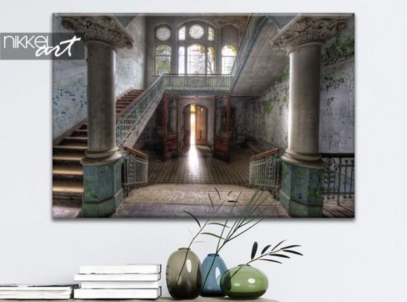 Photo of sanatorium Beelitz on canvas