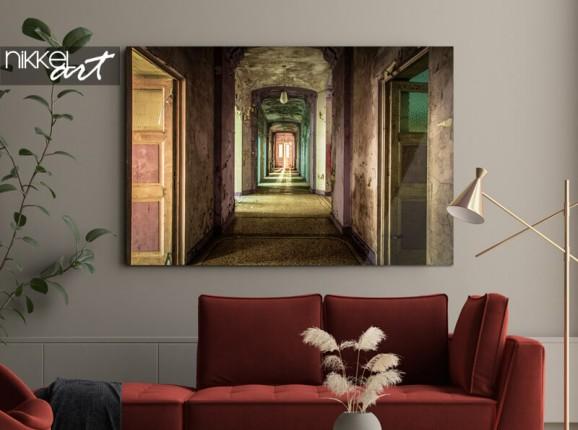 'Broken hallway' on acrylic