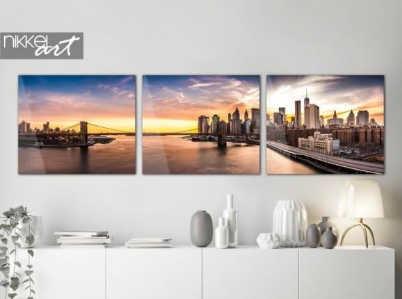 Skyline on acrylic